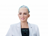 Levensechte robot Sophia spreekt op Forward Thinking Leadership